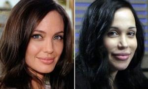 Angelina Jolie and Nadya Suleman