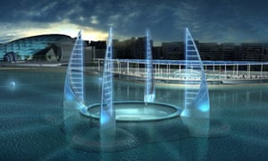 Artist's impression of the proposed underwater museum in Alexandria, Egypt