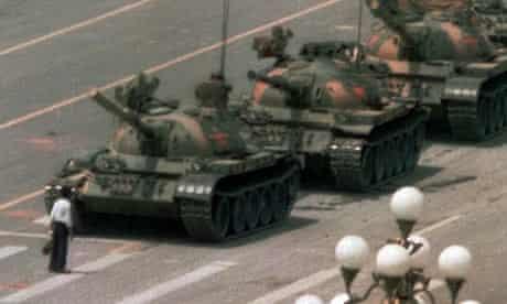 Tiananmen Square protestor in 1989