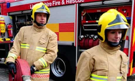2009: Firefighters during the launch to mark the rollout of a new uniform