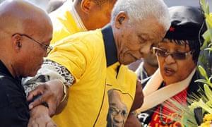 Nelson Mandela Makes Surprise Appearance At Anc Campaign
