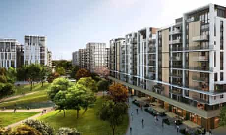 An artist's impression of how the Olympic Village will look during the 2012 Games