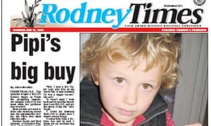 Three-year-old Pipi featured in the Rodney Times