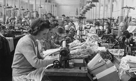 October 1947:  Women at work in a factory