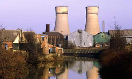 The Tinsley cooling towers in Sheffield