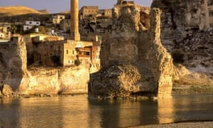 Tigris River and ancient city of Hasankeyf, Batman Turkey