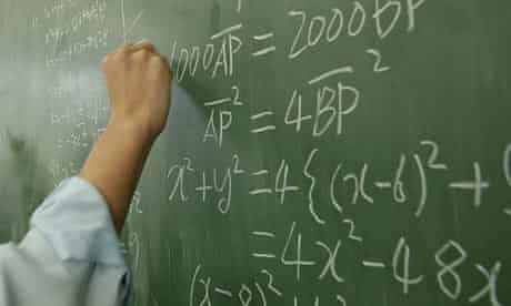 A student works on his algebra