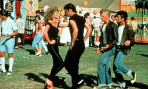 Grease film Olivia Newton-John and John Travolta