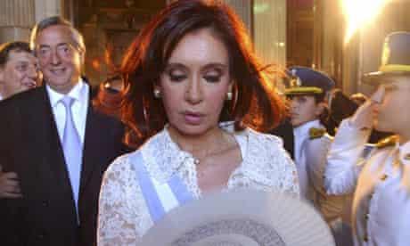 Argentina's President Cristina Fernandez and her husband Nestor Kirchner