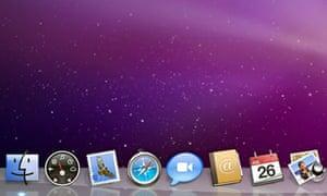 A detail of the Snow Leopard desktop