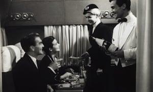 Air France Stewardess and Steward Serving Passengers