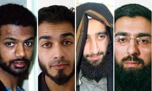 Binyam Mohamed, Zeeshan Siddiqui, Rashid Rauf and Salahuddin Amin