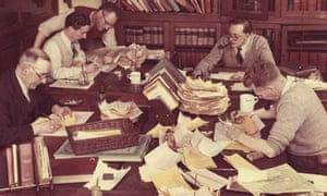 Journalists at the Manchester Guardian in 1960