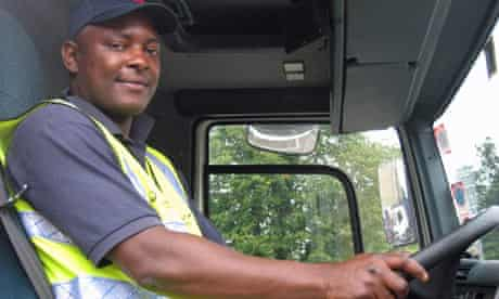 Kevin Graham a Lambeth council lorry driver who's done a bike awaremess course