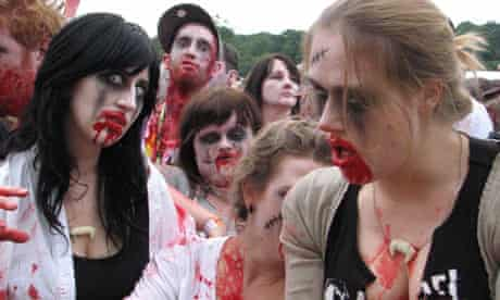 Gathering of zombies during the Big Chill festival