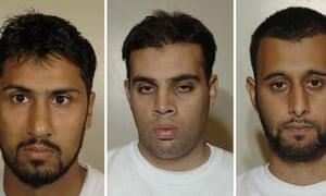 From left, Abdulla Ahmed Ali, Assad Sarwar and Tanvir Hussain