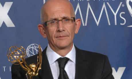 Frank Deasy in 2007 with his Emmy for Prime Suspect