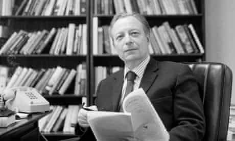 Irving Kristol at his desk in 1976