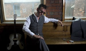 Singer songwriter Richard Hawley at his recording studio in Sheffield