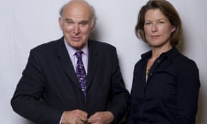 Vince Cable and Stephanie Flanders