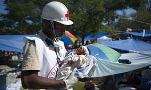 Haiti Red Cross Volunteer