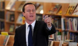 David Cameron launches education section draft manifesto