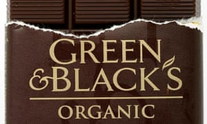 A bar of Green and Black's organic chocolate