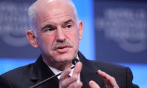 George Papandreou at Davos 2010.