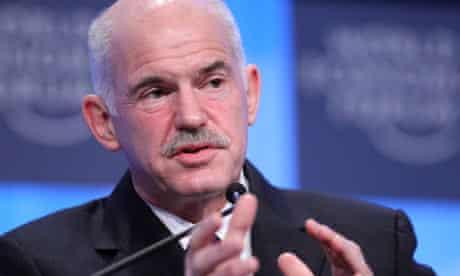 George Papandreou at Davos 2010.