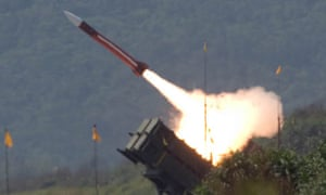 Patriot missiles form part of the £4bn arms sale by the US and Taiwan
