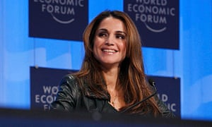 Jordan's Queen Rania attends session at WEF in Davos
