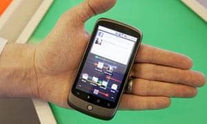 The Nexus One phone from Google