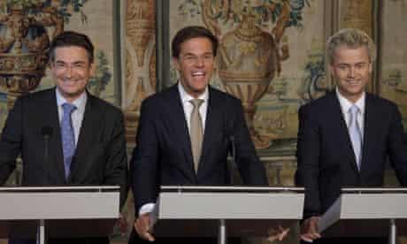 Geert Wilders and Dutch coalition leaders