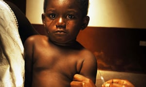 A child gets vaccinated, Ghana
