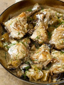 Chicken with potatoes and dill