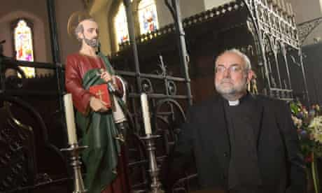 Father Stephen Bould in St Peter's church in Folkestone
