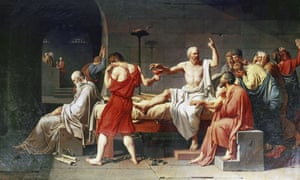 The Death of Socrates, 1787, by  Jacques Louis David