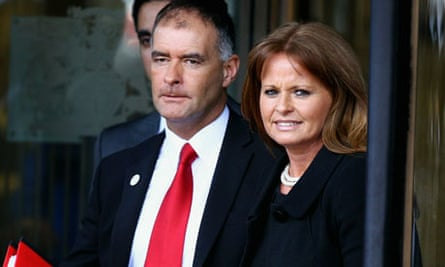 Gail And Tommy Sheridan Arrive At Court To Face Perjury Charges