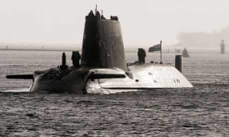 a british nuclear submarine