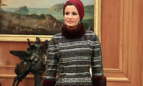 The wife of the Emir of Qatar, Sheikha Mozah bint Nasser Al Missned