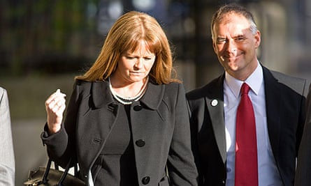 Gail and Tommy Sheridan arrive at Glasgow high court for the first day of their trial for perjury.