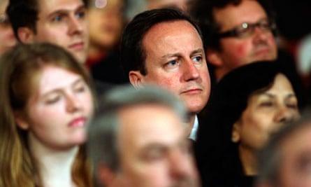 cameron hears osborne's cuts speech