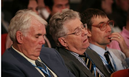 But not everybody found the speech on pensions riveting . . .