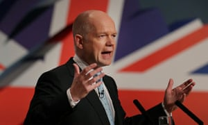 Foreign secretary William Hague at the Conservative conference