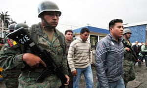 Ecuador police suspects detained