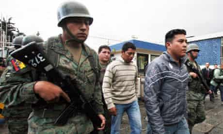 Ecuador police suspects detained