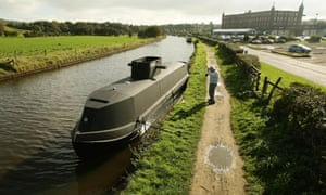 U boat canal barge