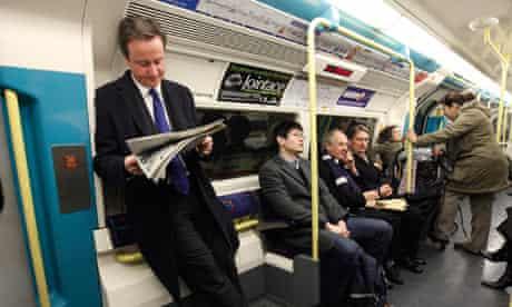 David Cameron on the tube, 2008