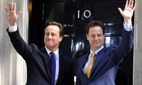 Clegg and Cameron outside 10 Downing Street