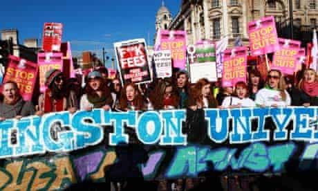 Students protest against rise in tuition fees